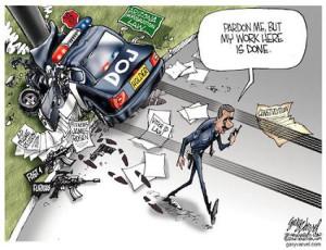 Cartoonist Gary Varvel: Eric Holder resigns the DOJ